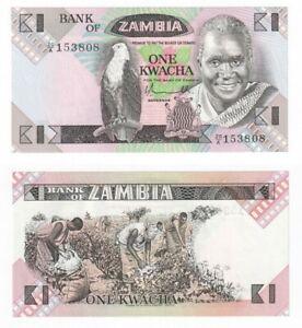ZAMBIA 1 Kwacha Banknote (1980-88) P.23b - UNC.