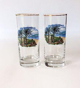 Vintage Libbey CALIFORNIA Highball Glasses Souvenir Collectable Bar Rocks EUC