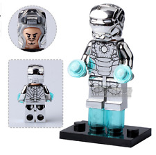 Iron Man Chrome Silver Fits Lego custom Minifigure  - TRUSTED UK SELLER