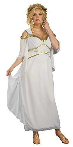 White Roman Goddess Plus Size Ladies Adult Costume, Rubies 17464