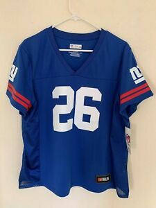 Saquon-Barkley-New-York-Giants-Majestic-Hashmark-Player-Name-amp-Number-T-shirt-Blue