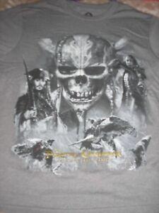 Men's Medium Pirates of the Caribbean Dead Men Tell No Tales Tee  NWT Disney
