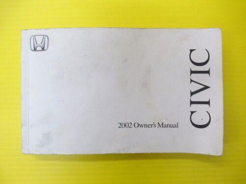 Civic Sedan 02 2002 Honda Owners Owner/'s Manual OEM
