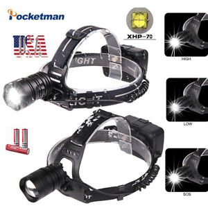 XHP70-90000LM-LED-Headlamp-Rechargeable-Headlight-Led-Torch-Flashlight-3-18650