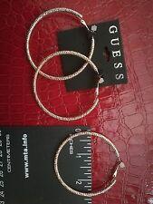 Guess Fashion Gold Tone Hoop Earrings