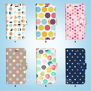 Dot-Pattern-Wallet-Case-Cover-iPhone-11-Pro-XS-MAX-XR-X-8-7-6-6S-Plus-088