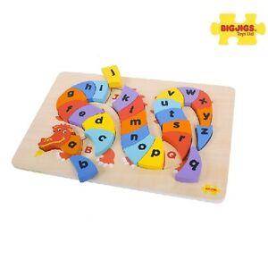 Drachen Mit Buchstaben Aus Holzpuzzle Neu & Ovp Zu Hohes Ansehen Zu Hause Und Im Ausland GenießEn Bigjigs Baby Puzzle