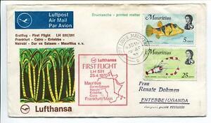 Ffc 1970 Lufthansa Primo Volo Lh 591 - Mauritius Entebbe Cairo Francoforte