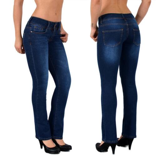 Damen Jeans Hose Bootcut Damenjeans Jeanshose Schlaghose J158