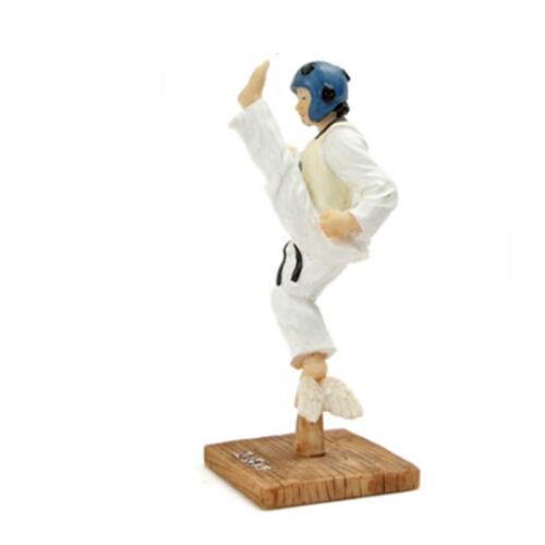 Korean Taekwondo Jump Kick Figure Taekwondo Fighter Doll Handmade Figure Display