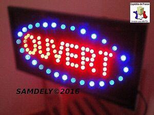 Enseigne Lumineuse Leds Ouvert Panneau Tableau Led Bleu Clignotant Commerce Egtbos5p-07225016-785802281