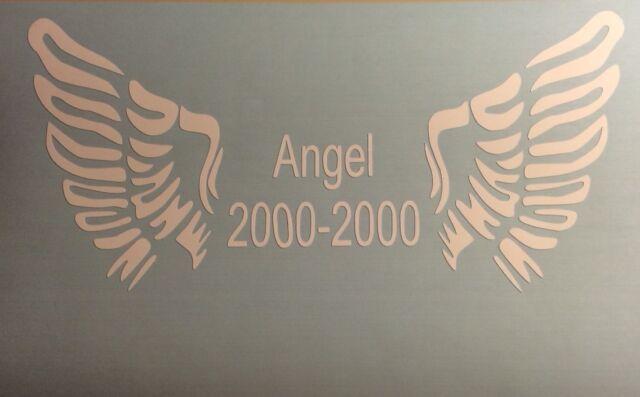 In Loving Memory Angel Wings Decal Window Sticker Personalized Memorial car