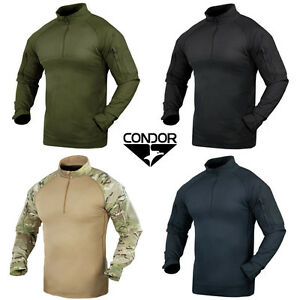 Condor-101065-Tactical-Military-Combat-Shirt-YKK-Zips-Olive-Black-Tan-Multicam