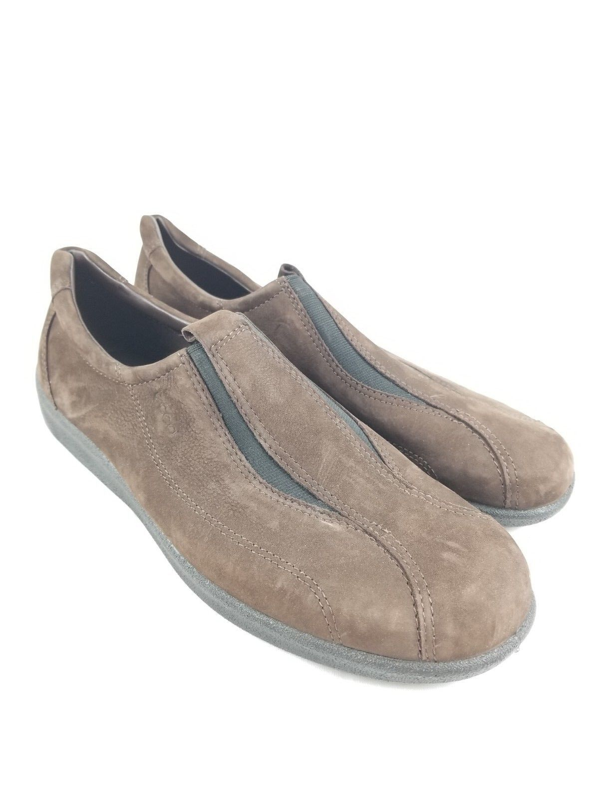 Ecco Womens Brown Slip On Loafer shoes US 10 10.5 M EUR 41 vegetable tanned Suede