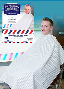 Old Fashion Hair Cutting Cloth Barber Cape Black White
