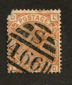 Great-Britain-stamp-73-used-plate-1-corner-damage-Queen-Victoria-SCV-350