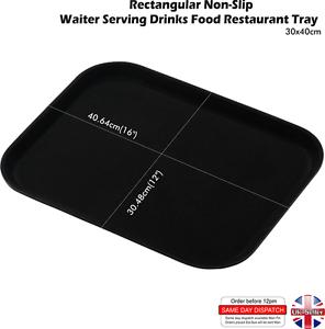 Rectangular NON SLIP Tray Bar Pub Café Waiter Serving Dinner Drinks Food Platter