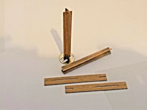 25  CROSS WOODEN WICK 8cm high 9mm wide for Candle Making including sustainers