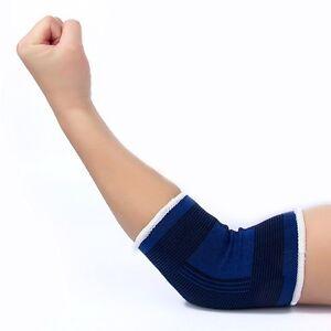 Negro-Con-Elastico-Soporte-De-Codo-Vendaje-Brace-Manga-Wrap-Artritis-deporte-gimnasio-Reino-Unido
