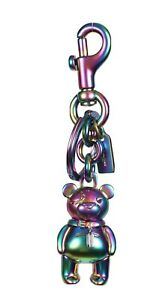 COACH-Teddy-Bear-Key-Ring-Bag-Charm-Key-Chain-3D-Hologram-F87166-NEW-TAGS