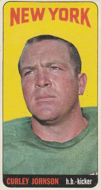 1965 TOPPS CURLEY JOHNSON  SP  #119 VG-EX NY JETS