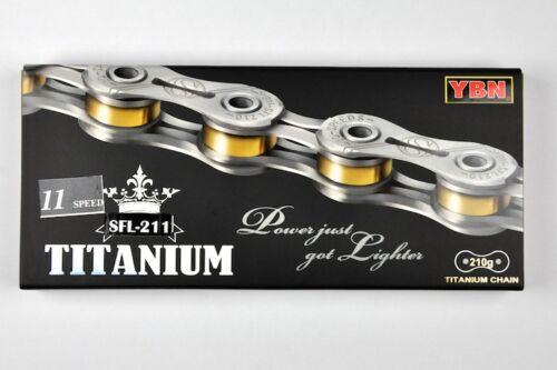 Nouveau YBN SFL 211 Titane 11 Vitesse Vélo Chaîne 222 g pour SHIMANO SRAM CAMPAGNOLO