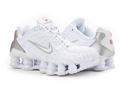 nike shox tl women's casual running shoes white ar3566100