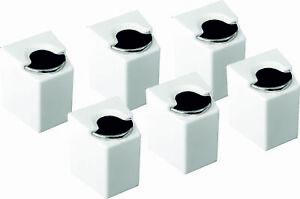 6-x-Euro-Muenzen-Dose-Box-Kapsel-Halter-Muenzhalter-selbstklebend-Muenzbox-Muenzen