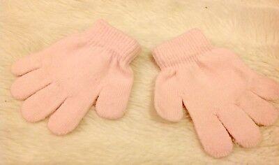 Claires Età 3-6 Anni Bambina Baby Rosa Acrilico Mix Lavorato A Maglia Caldo Guanti Invernali Nuovo-mostra Il Titolo Originale