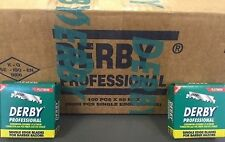 5000 BLADES SINGLE EDGE DERBY  PROFESSIONAL RAZOR BLADES FULL BOX (50 PACKS)