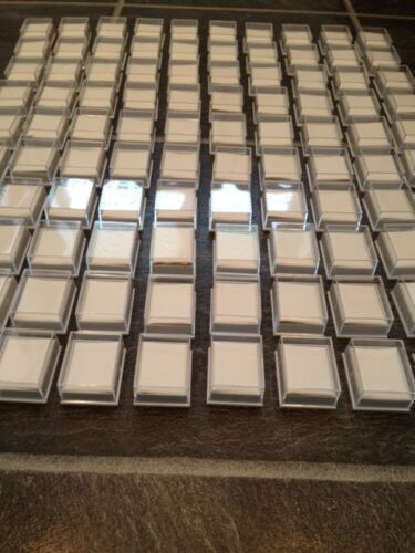 9ct GOLD INSERTS WHOLESALE JOBLOT 50 X CLEAR JEWELLERY BOXES FOR  EARRINGS