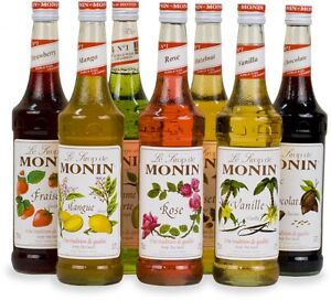25cl Monin Coffee Syrups Small Bottles Perfect For