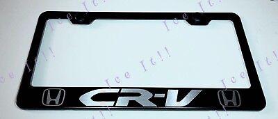 CR-V CRV Stainless Steel Metal License Plate Frame Rust Free W// Bolt Caps