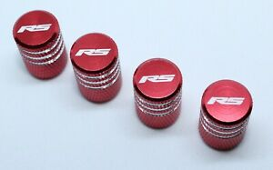 4x Valve Cap for FORD Aluminium Dust Caps for RS/Std Line Brand New Red Check
