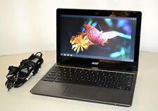"""Acer Chromebook C720 11.6"""" Intel Celeron 2955U 1.4GHz 4GB RAM 16GB SSD HDMI"""