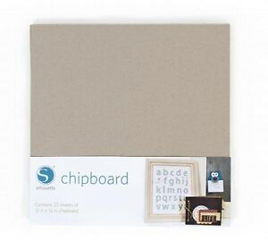 SILHOUETTE-Chipboard-25-sheets-per-pack