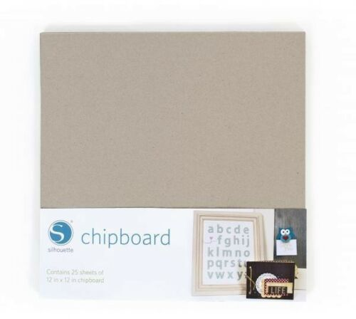 Chipboard 25 sheets per pack SILHOUETTE