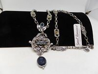 Sweet Romance Chevalier Blue Crystal Intaglio Necklace Brand
