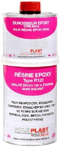 Soloplast Résine EPOXY R123 et Durcisseur R614 - Kit de 1 kg