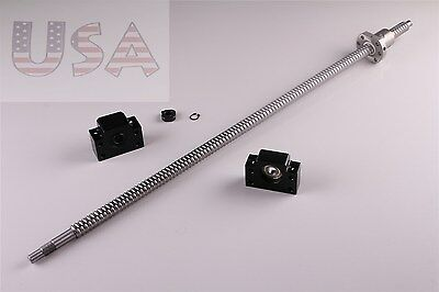 SFU1605 L300mm Rolled Ball Screw with  BK//BF12 End Machined CNC 1BR coupler