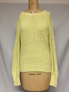 76edb89d2a8e3 Image is loading Free-People-Electric-City-Pullover-sweater-OB560520- Chartreuse-