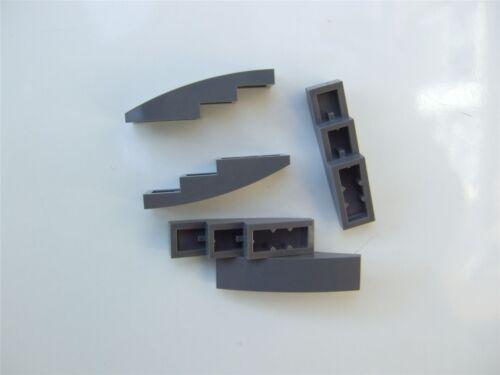 5 X Lego ladrillo gris con arco 1x4-6042955 partes y piezas de