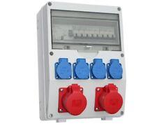 Wandverteiler FI  2x16A 4x 230V Baustromverteiler Stromverteiler ELWVT_1 CEE