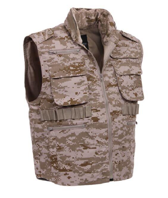 US RANGER Desert Digital ARMY Hunting Outdoor Vest Tarnweste w Large Taschen L Large w aee1db