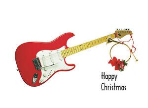 Guitar christmas card greetings cards sp590 spartan press ebay image is loading guitar christmas card greetings cards sp590 spartan press m4hsunfo