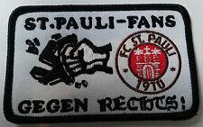 Aufnäher - Fans gegen rechts  , original FC St. Pauli Merchandise , 60x95mm