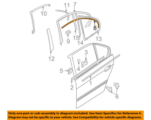 BMW OEM 97-03 540i Exterior-Rear-Cover Molding Right 51348185272