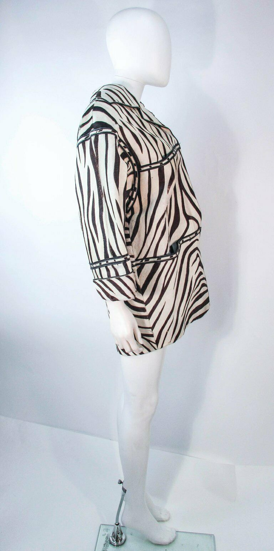 AMEN WARDY Zebra Pattern Cowhide Coat Size 4-8 - image 8