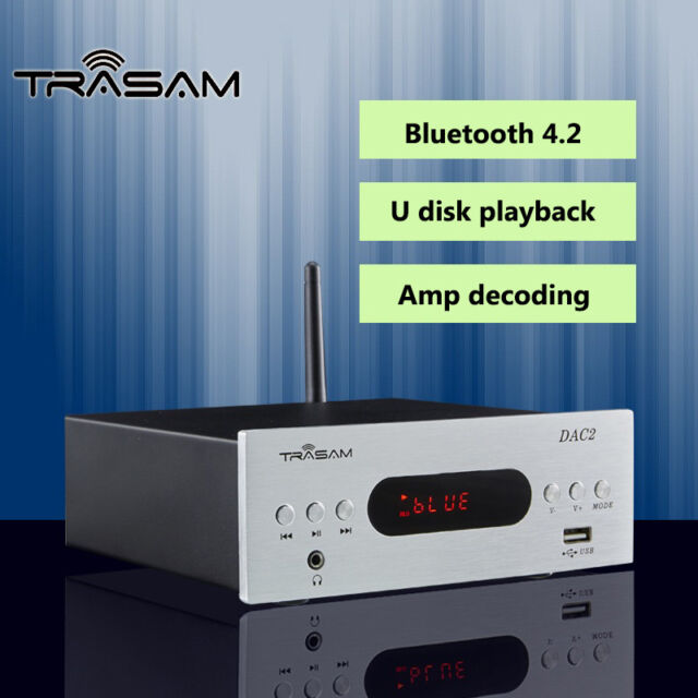 TRASAM DAC2 HiFi Optical/Coaxial/USB/U Disk Audio Amplifier DAC 192Khz/24BIT