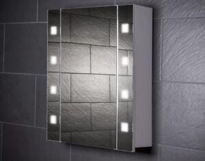 60 cm spiegelschrank cube60 spiegel badezimmerschrank beleuchtung steckdose ebay. Black Bedroom Furniture Sets. Home Design Ideas